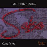 Mesh letter's - Salsa - blinking (3 prims)