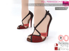 %50WINTERSALE Dae, Obj, Fbx, Texture Files For Suede Red Sole Peep Toe Wedding Shoes Slink, Maitreya