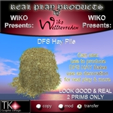 WIKO presents DFS Hay Pile * LOOKS GOOD * 2 PRIMS only * Can use to make DFS Hay Bales, use for decoration, real play ..