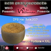 WIKO presents DFS Hay Bale(300) * 300 Portions = XXL! * Can use for feed, use for decoration, real play and more