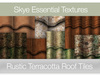 *Skye Essential Textures - 54 Rustic Terracotta Roof Tiles -  Full Perms Textures