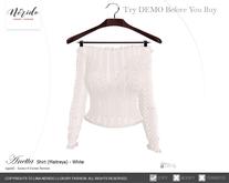 ~Nerido~ Anetta Shirt (Maitreya)-White