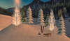 ***Mesh Dream*** Mesh Backdrop Winter Wonderland