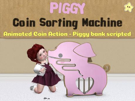 [Killi's] Animated Piggy Coin Sorting Machine - Tip Jar / Piggy Bank