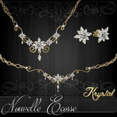 ::: Krystal ::: Nouvelle-Ecosse - Jewelry Set - Gold