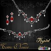 ::: Krystal ::: Terre Neuve - Jewelry Set - Platinum-MultiJewel