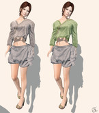 gacha outfit 404 !gO! Haruko  peeptoes, 2 shirts and shorts