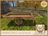 TTR-Market Cart w Carved Wood