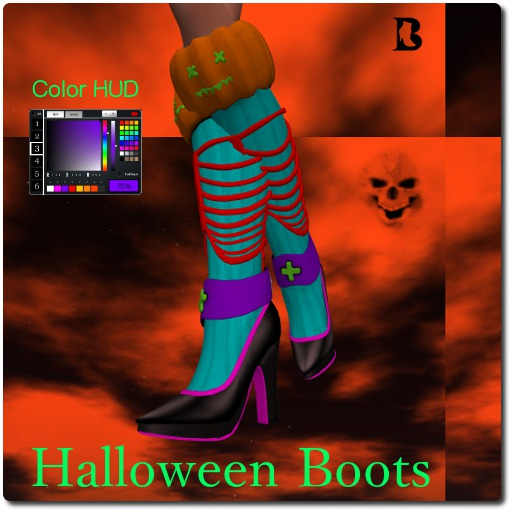 Lost Closet Halloween Boots with Color HUD