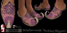 Eclectica 'Scheherazade' Arabian Slippers-pink