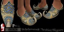 Eclectica 'Sheherazade' Arabian Slippers-yellow