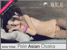 ♥ AVI{L} HUD Master: Skin Tone Pale Asian Osaka Body & Face