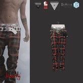 Legal Insanity - Chester red tartan baggy pants