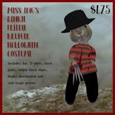 Miss Ing's Dinkie Freddy Krueger Halloween Costume