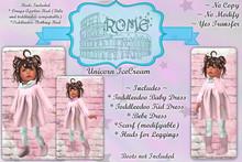>rOMe< Toddler Unicorn Icecream Set