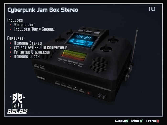 [1A] - Cyberpunk Jam Box Stereo