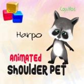 Animated Shoulder Raccoon - Harpo