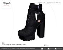 ~Nerido~ Cameron Boots (Maitreya)-Black