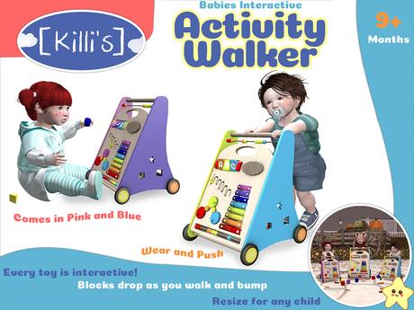 [Killi's] Interactive Activity Baby Walker