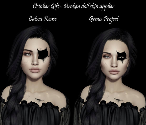 *Spicy* Broken doll skin applier Catwa/Genus (Group gift in-world)