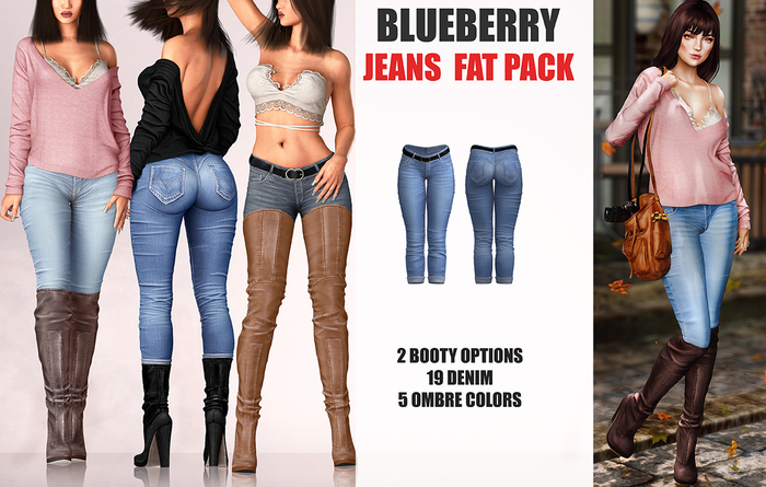 Blueberry - Frank Jeans - Fat Pack