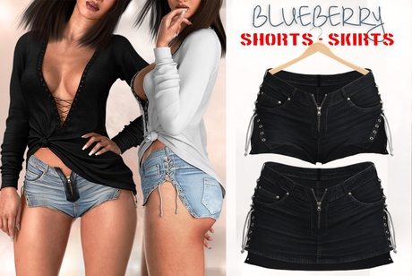 Blueberry - Felicity - Shorts & Skirts - Black