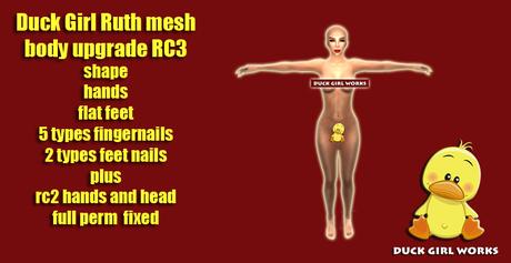 ruth upgrades - rc3 hands, feets, nails - 2