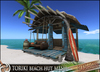 HeadHunter's Island - TORIKI beach hut set v1.2 - brown and blue - 36 multianimations - hanging sofa/palm tree/surfboard