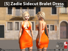 [S] Zadie Sidecut Bralet Dress Orange