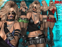 **MALIKA PUNK ROCK STYLE UNIVERSAL HUD 5 TEXTURES OUTFIT **