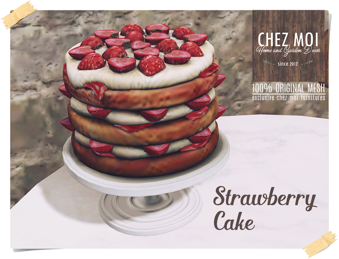 Strawberry Cake ♥ CHEZ MOI