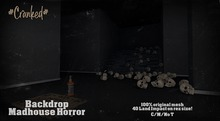 #Cranked# Backdrop Madhouse Horror Scene (Boxed HUD. Wear me)