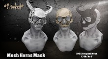 #Cranked# Skull Mask /Horns (Boxed HUD. Wear me)