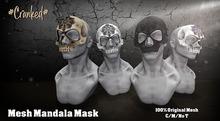 #Cranked# Skull Mask Mandala Color (Boxed HUD. Wear me)