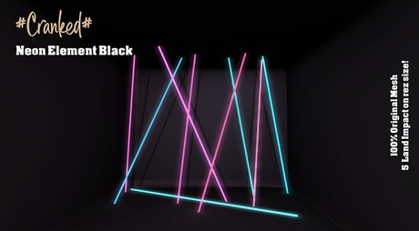 #Cranked# Neon Element Black (Boxed HUD. Wear me)