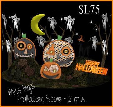 Miss Ing's Halloween Scene Boxed