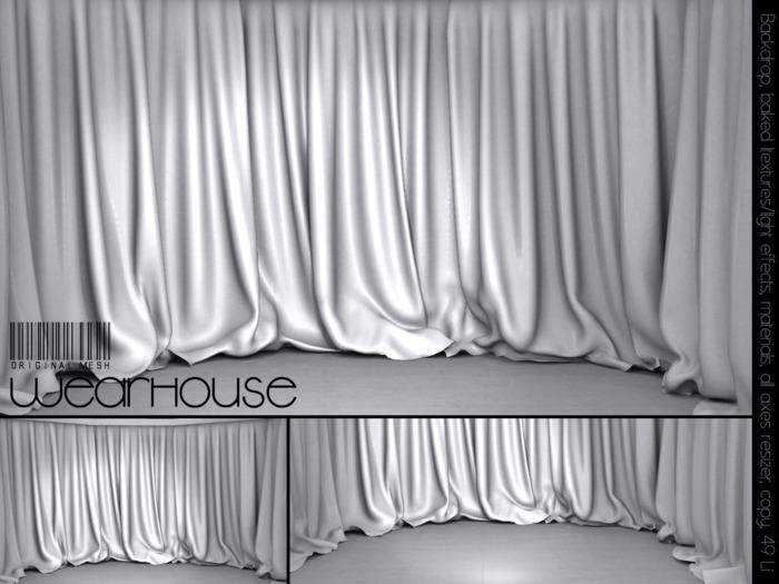 WeArH0uSE [drapes white] PhotoBackdrop