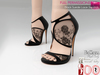 Mp main black suede lace sandals