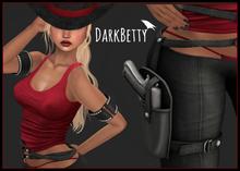 [DB] Gunslinger Girl Black Complete Outfit- Maitreya, Belleza, Slink, TMP