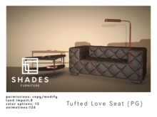 SHADES - Tufted Love Seat PG
