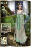 !!!SMD!!! Born of Hope Gown Set-MINT