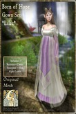 !!!SMD!!! Born of Hope Gown Set-LILAC