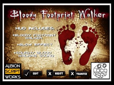 Bloody Footprint Walker w/ HUD (Sound & Glow Options)