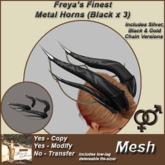 Freya's Finest Jewels Metal Horns - Black (Mesh) - UNISEX