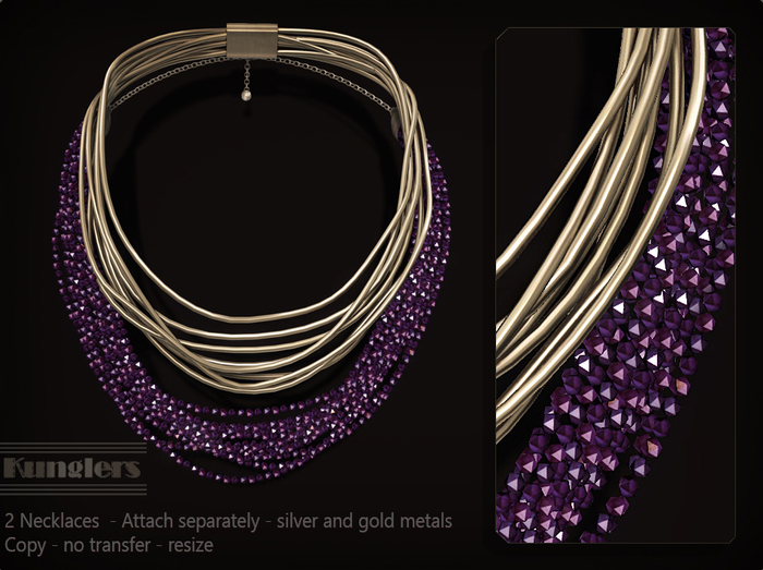 KUNGLERS - Malu necklaces - Amethyst