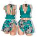*** Harmonia Sally Teal Floral Outfit - Maitreya Slink Freya