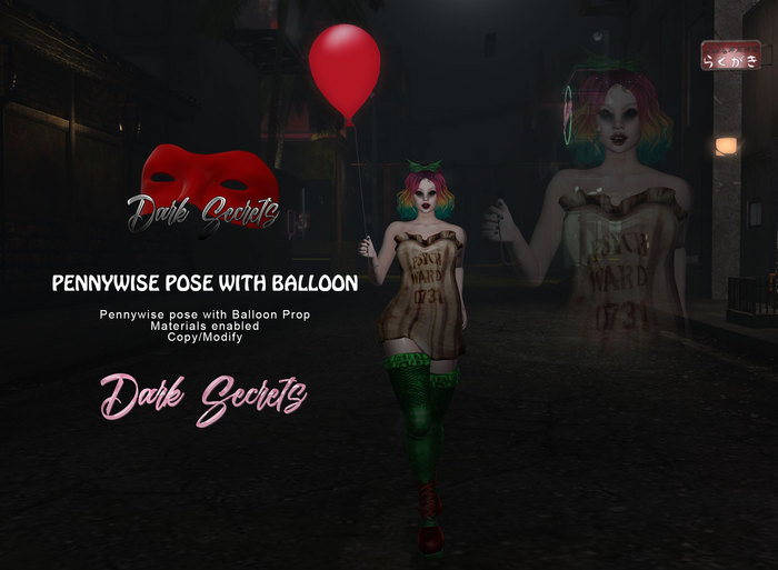 Dark Secrets - Pennywise Bento Pose with Balloon BOX