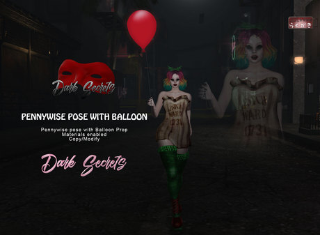 Dark Secrets - Pennywise Pose with Balloon BOX