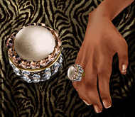 p.c; Diamonds and Pearl Ring