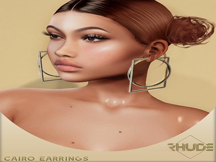 [RHUDE] Cairo Earrings  Fatpack B